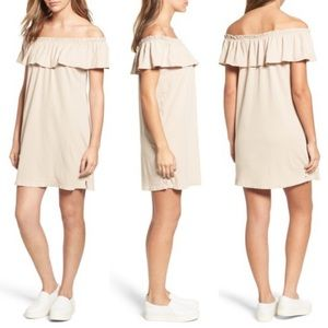 Current Elliot NWT Ruffle Off the Shoulder Dress
